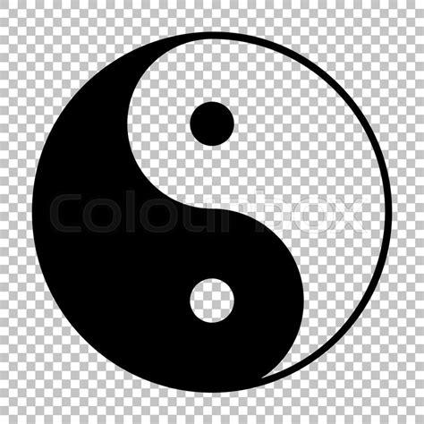 yin yang background ying yang symbol of harmony and balance flat style icon