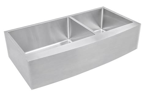 42 Inch Kitchen Sink Ariel 42 Inch 60 40 Offset Bowl Farmhouse Apron Front Stainless Steel Kitchen Sink 15mm