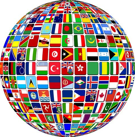 flags of the world png globe flags transparent png stickpng