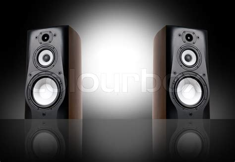 speaker background black speakers on black background stock photo colourbox