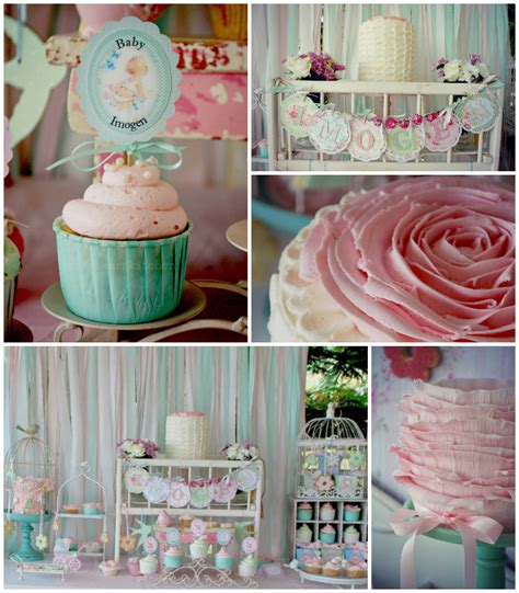 kara s party ideas shabby chic pink and mint baby shower