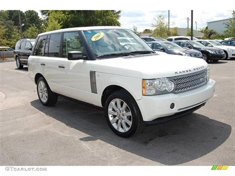 land rover 2007 black 2007 chawton white land rover range rover supercharged