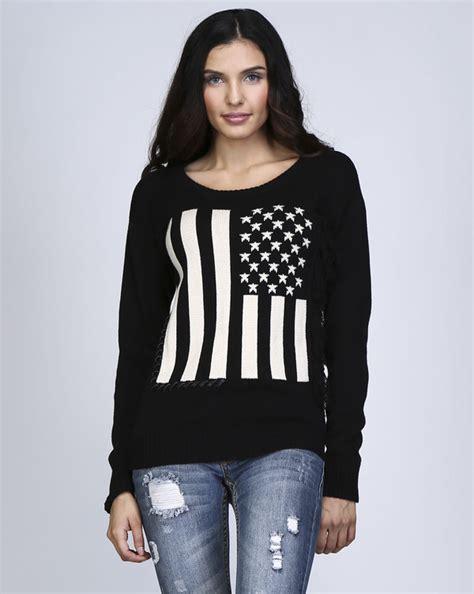 Lq Sweater Top Hodie Flag top american flag sweatshirt american flag printed american flag sweater