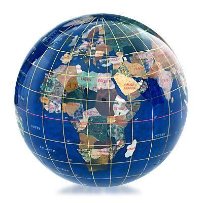 caribbean blue gemstone globe paperweight