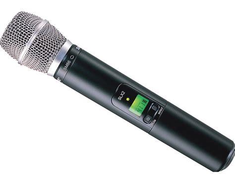 Microphone Wireless Shure Slx 282 shure slx24 sm86 wireless handheld microphone system