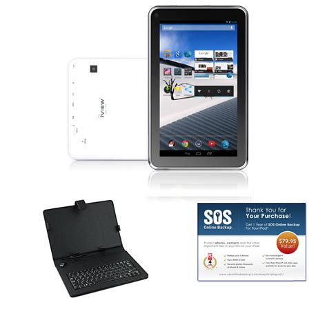 bundle android iview 174 97085194m 7 quot white 4 2 android tablet bundle