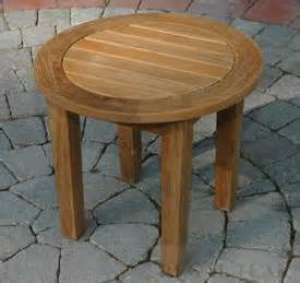 Small Wooden Patio Table 18 5 Quot Teak Wooden Outdoor Patio Side Table With Tapered Legs Patio