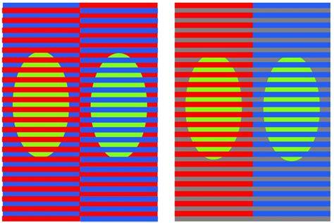 brain color illusion david novick s color illusions page relationship between