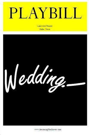 playbill wedding invitation template 30 best wedding playbills images on wedding