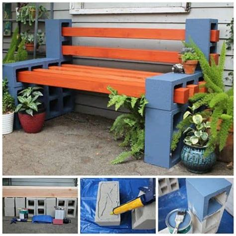 how to build a cinder block bench cinder block bench seat video instructions the whoot