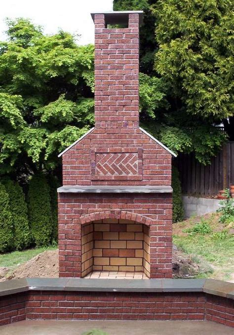 Outdoor Masonry Fireplace Plans by Best 25 Outdoor Fireplace Brick Ideas On