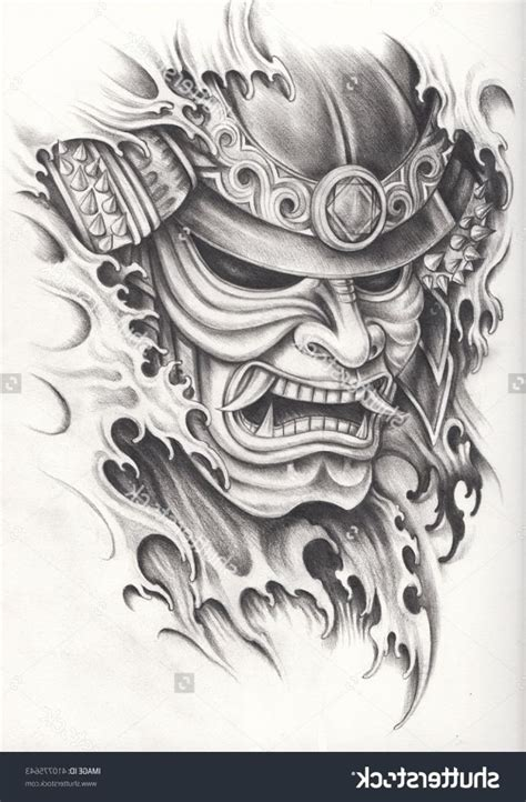 japanese warrior tattoo designs 25 unique samurai mask ideas on