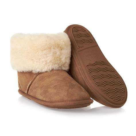 sheepskin slippers just sheepskin albery slippers chesnut free uk delivery