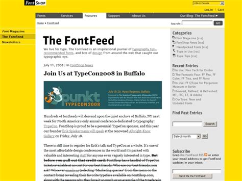design inspiration rss feeds 8 great typography blogs most inspired design