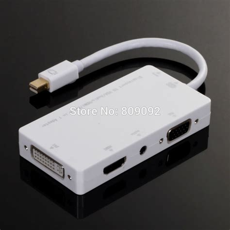 Mini Usb To Vga 4 in 1 mini dp thunderbolt displayport to hdmi vga dvi