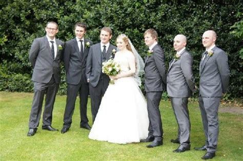 The Bride & Groom with Best Man & Ushers   Picture of The