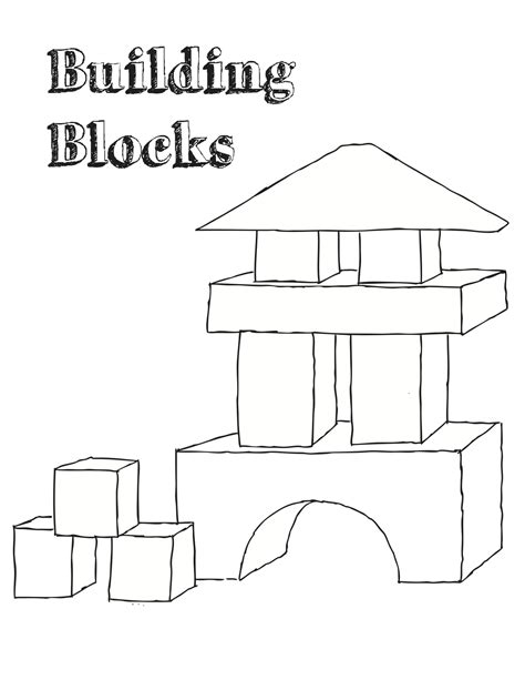 the gallery for gt blocks coloring page