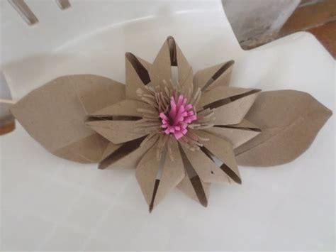 Toilet Paper Origami Flower - flor de rolo de papel higi 234 nico 2 tubos de cart 243 n