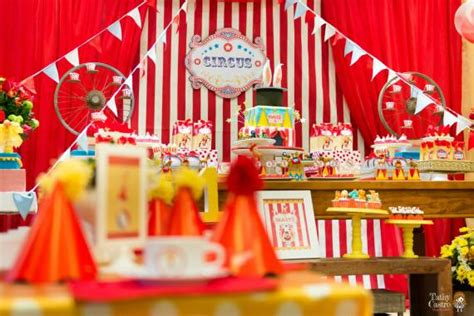 party themes classic classic red white circus themed birthday party