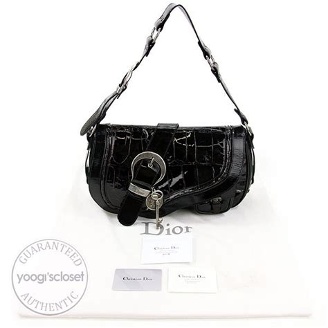 Gaucho Croc Sted Patent Bag by Christian Burgundy Croc Sted Patent Leather Medium