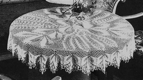 knitting patterns for tablecloths erikas 80 nr 3 herbstlaub tablecloth in