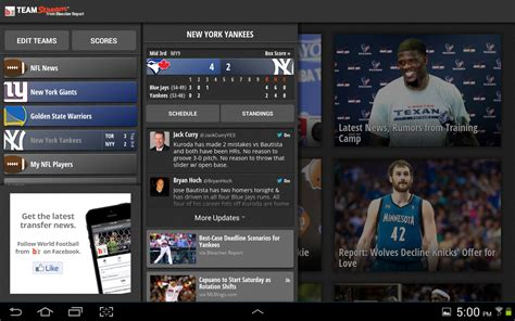 bench report app team stream by bleacher report android apps on google play