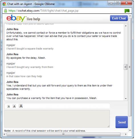 ebay online chat indusmaker don t trust warranty on ebay