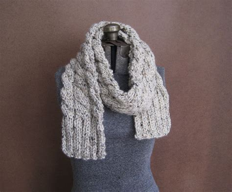 chunky knit scarf chunky cable knit scarf the rainier made to order