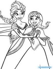 coloring pages elsa and anna collections