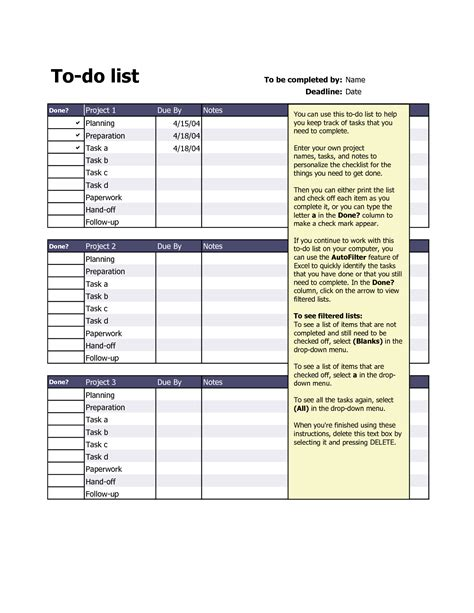 format html list to do list in excel template 28 images to do list