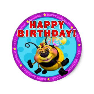 happy stickers happy birthday stickers with beewee