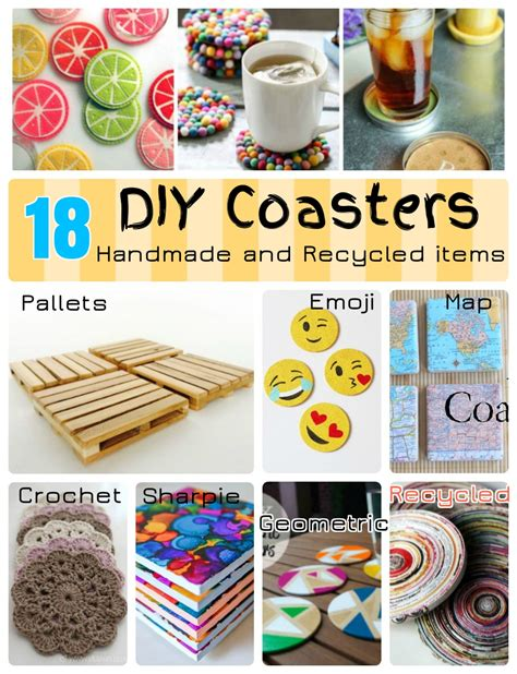 diy coasters 18 diy coaster ideas with recycled and reclaimed items