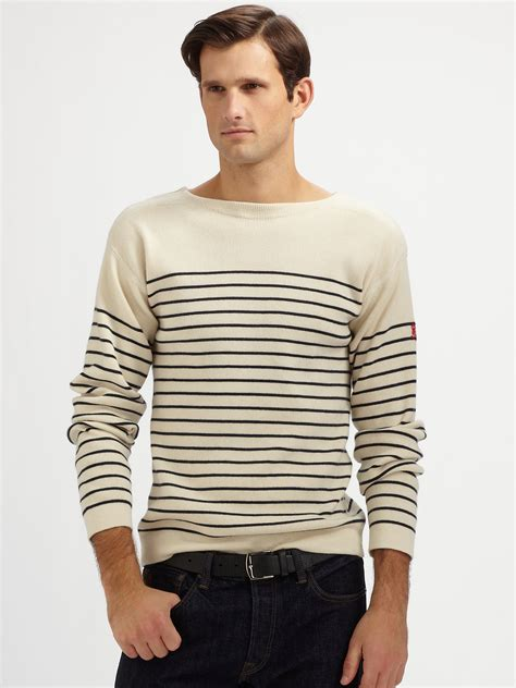 boat neck jumper mens lyst polo ralph lauren boatneck sweater in natural for men