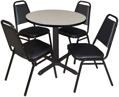 Breakroom Tables And Chairs Kfi Seating Silver Base Cafe