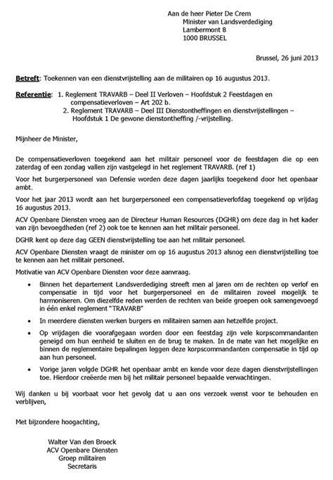 voorbeeldbrief onbetaald verlof werkgever brief werkgever images frompo 1