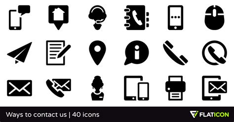 Free Resume Creator by Ways To Contact Us 40 Premium Icons Svg Eps Psd Png Files