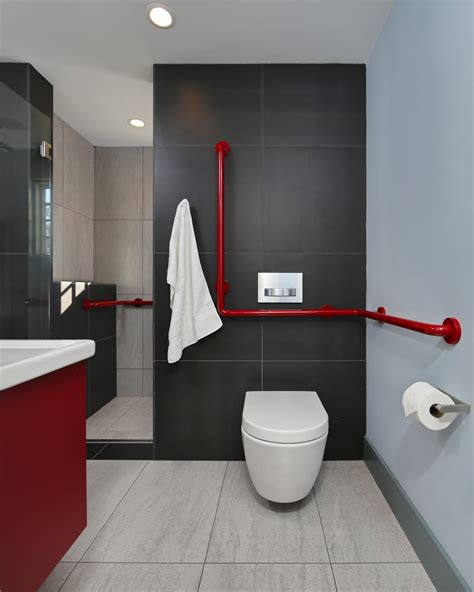 Small Space Home Decor Ideas by Modern Master Bathroom Ideas Red And Black