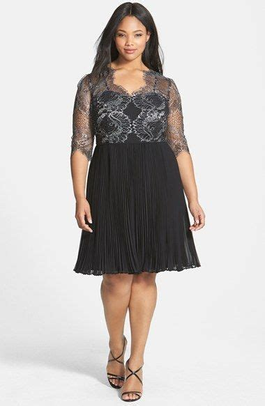 Dress Fashion Dr8962 Bta 2 free shipping and returns on papell lace overlay pleated cocktail dress plus size at