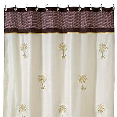 palm shower curtain avanti oasis palm 70 inch x 72 inch fabric shower curtain