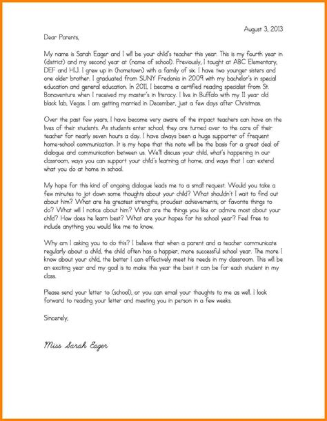 7 Sle Room Parent Introduction Letter Introduction Letter Parent Letter Template