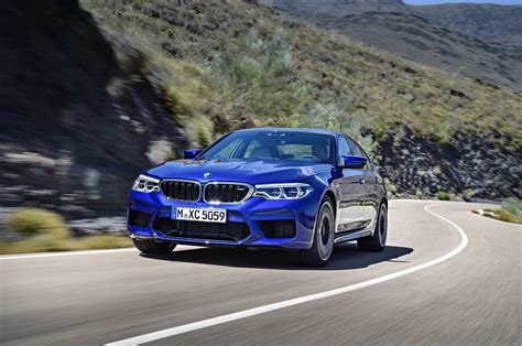 first bmw 2018 bmw m5 first look review motor trend