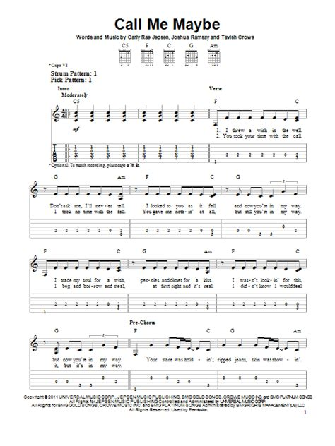 song call me call me maybe sheet music direct