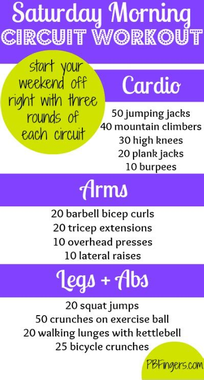 saturday morning circuit workout peanut butter fingers