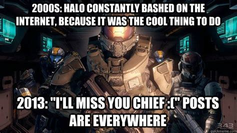 Master Chief Meme - 2000s halo constantly bashed on the internet because it