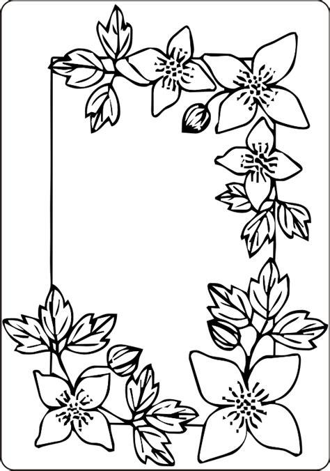 cornice da disegnare cornice fiori e foglie disegno da colorare gratis