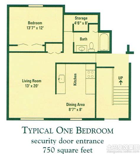 1 bedroom apartment square footage 小复式单身公寓户型图 土巴兔装修效果图