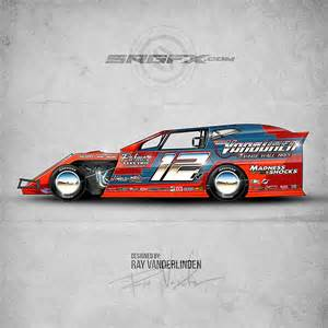 Dirt Late Model Graphics Template by Srgfx Vector Racing Graphics Resourcesschool Of