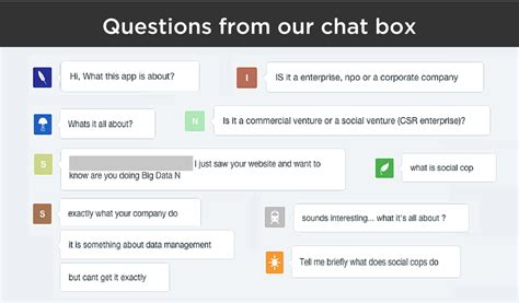 Or Questions Chat Socialcops What We Actually Do Socialcops
