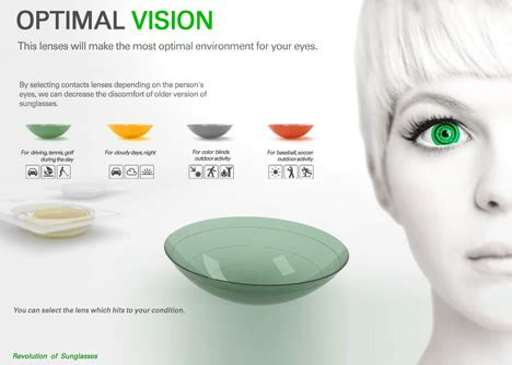 color blind contacts cool catty are better than designer shades yanko design