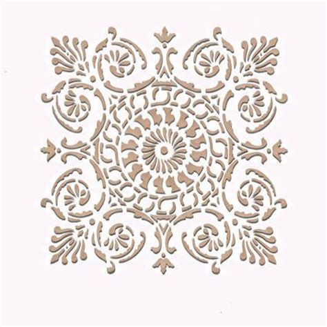 Chalk Paint Ideas Kitchen Wall Stencil Small Palermo Tile Stencil Royal Design